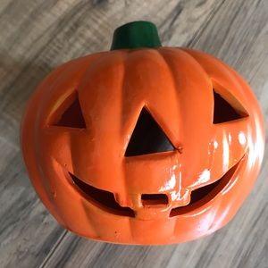 Ceramic Halloween Fall pumpkin tea light holder